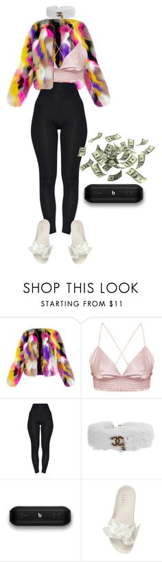 """""""mannequinxo x blow a check on the weekend,might do it all again .. blac chyna"""" by xxxthebombshellfactoryxxx ❤ liked on Polyvore featuring Chanel, Beats by Dr. Dre and Puma"""