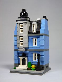 "LEGO Mini Modulars MOC: ""Blue Ave No. 7"" 