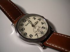 Barbour watch, leather strap.