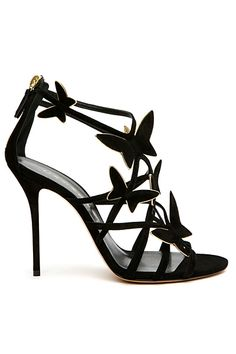 Casadei Black Butterfly Sandals Resort 2014 #Shoes #Heels