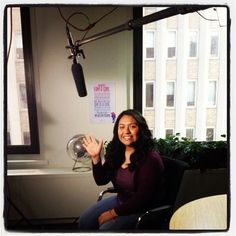 """""""Teen Advisor Itzel Delgado filming her Girl Up commercial at MTV studios! Check it out this summer during the new season of """"Awkward."""""""""""