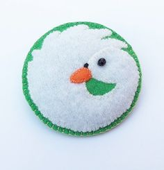 SABRINA  The White Swan  Felt Brooch Accessory by CherryPips