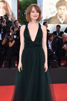 Emma Stone stuns at the #VeniceFilmFestival #Premiere of #Birdman in the Rose Halo Ring #EmmaStone #Valentino