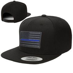 b2496798680f3c Snapback - Subdued Thin Blue Line American Flag Enforcement Officer, Thin  Blue Lines, American