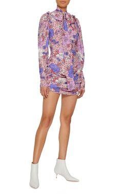 Magda Butrym rose/lilac flower dress