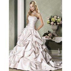 Majestic Satin A-line  Sleeveless Lace Empire Ivory Wedding Dresses