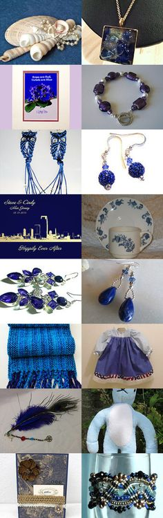 Sweet Sixteen Treasury - I Would Be Blue If It Weren't For All These Beautiful Things by Marilyn Rush on Etsy--Pinned with TreasuryPin.com