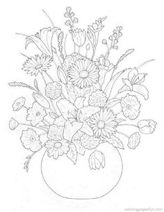 Floral detailed Coloring Pages for Adults - Bing Images
