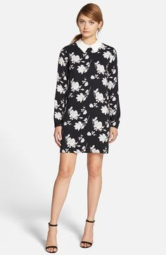 cupcakes+and+cashmere+'Eagle+Rock'+Floral+Print+Shirtdress+available+at+#Nordstrom