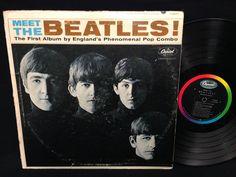 Meet The Beatles MONO LP Vinyl Record Capitol Rainbow Label T-2047