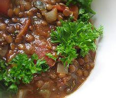 Lisa's Vegetarian Kitchen: Greek Lentil Soup (Fakes)