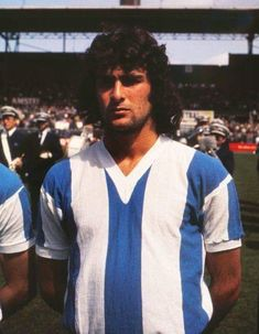 An poster sized print, approx (other products available) - Football - 1974 International Friendly - Netherlands 4 Argentina Mario Kempes at the Amsterdam Olympisch - Image supplied by Colorsport Images - poster sized print mm) made in Australia Mario, Pixel Image, Amsterdam, Framed Prints, Canvas Prints, Sports Photos, S Pic, Photographic Prints, Football Players