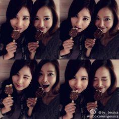 SNSD Jessica Seohyun ice cream SNS