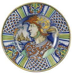 A DERUTA DISH, FIRST HALF 16TH CENTURY;   #TuscanyAgriturismoGiratola