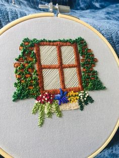 Almost gave up on this project. Diy Embroidery Thread, Hand Embroidery Design Patterns, Embroidery Stitches Tutorial, Embroidery On Clothes, Embroidery Flowers Pattern, Hand Embroidery Designs, Cross Stitch Embroidery, Crochet Stitches Free, Decoration