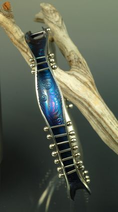 Beautiful silver bracelet -- hand forged by artist:  Andrea Guarino - Beadmaker / Silversmith