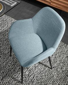 Sedia Konna blu chiaro | Kave Home® Tub Chair, Accent Chairs, Armchair, Inspiration, Furniture, Design, Home Decor, Upholstered Chairs, Sofa Chair