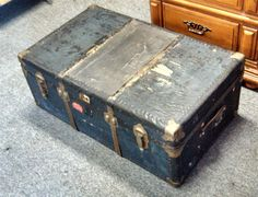 Antique Steamer Trunk Circa 1920