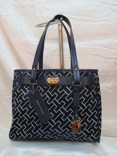 Tommy Hilfiger Shopper 6928687 471 Color Blue Beige Gold Retail Price $ 85.00 #TommyHilfiger #Shopper