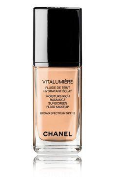 CHANEL VITALUMIÈRE   Moisture-Rich Radiance Sunscreen Fluid Makeup Broad Spectrum SPF 15 available at #Nordstrom