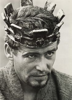 Peter O'Toole as King Henry II in BECKET (1964), from the programme of the film.