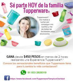 Compra o Vende Tupperware en Tampico,Altamira,Cd. Madero y Naranjos Veracruz y sus alrededores contactame, visita:https://www.facebook.com/TupperwareTampicoClaridad