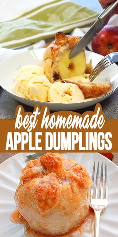 HOMEMADE APPLE DUMPLINGS Homemade Apple Dumplings – These apple dumplings are delicious and so easy to make. The homemade dough is easy to make, the recipe comes together fast, the results are wonderful. Apple Dessert Recipes, Summer Dessert Recipes, Apple Recipes, Easy Desserts, Fall Recipes, Snack Recipes, Cooking Recipes, Asian Desserts, Snacks