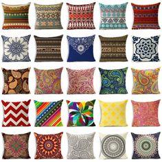 18'' Bohemia cotton linen pillow case cover sofa waist cushion cover Home Decor