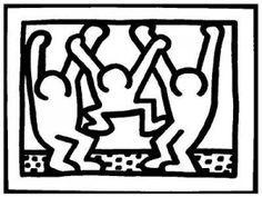 Coloriage Keith Haring 3