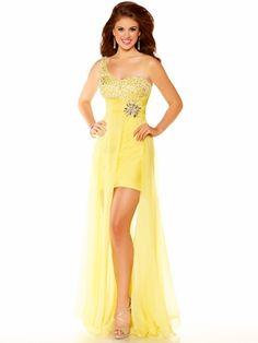adbd5b6274ca5 Hi-Low Single Strap Homecoming Dress Mac Duggal 6234  DressProm.net Formal  Dress