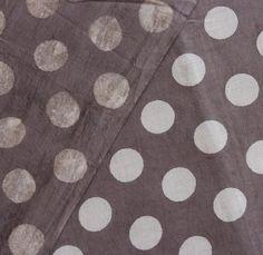 Yards Indian Block Print Brownish Grey Color Fabric, Wood Printed 100% Cotton Soft Fabric, Dabu Print Mud Resist Hand Printed Fabric HPS#246 by handprintedshop on Etsy