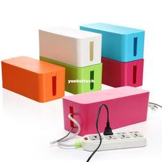Plastic Wire Storage Box Cable Manager Organizer Box Power L-淘宝网