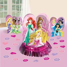 Juvenile Girls Birthday- Disney Princess table decor kit