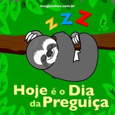 Dia da Preguiça. Ilustração do bicho-preguiça http://imagensfree.com.br
