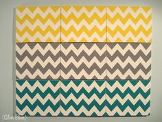 Silver Boxes: Chevron Wall Art
