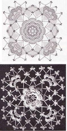 Розетка, окруженная сеткой в виде квадрата
