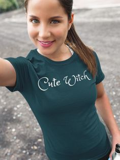 Cute Witch Halloween Tshirt. Get yours now at Flufti Halloween Designs,  Fall Halloween, d67bd5fffcc1