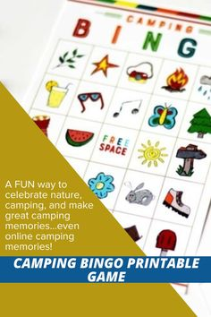 Take this game camping - or email/deliver to all your online campers this year. Make new, unique memories and celebrate God's goodness with this camping BINGO game! #CampingPrintables #BingoGame #CampingGame #CampingIdeas #Ministering #MinisteringPrintables #Camping Camping Bingo, Camping Games, Camping Ideas, Lds Seminary, Fhe Lessons, Five In A Row, Primary Activities, Doctrine And Covenants, Lds Primary