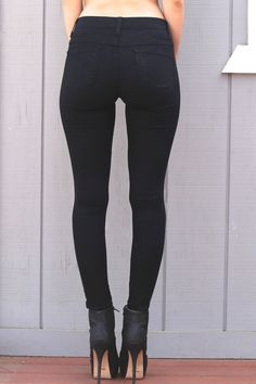 f04d969c7deab Flying Monkey Jeans L7401 High Waist Leggings in Black. Can be found at  www.InRealityLA.com