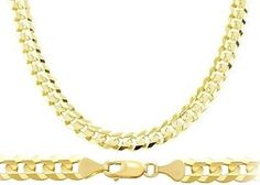 Heavy 14k Yellow Gold Chain Cuban Curb Necklace Solid Link Mens 7.1mm , 26 inch. Solid 14K gold, not plated. Authenticated with a 14K stamp. Includes lobster clasp to uphold strength and comfort. Heavy 14k Yellow Gold Chain Cuban Curb Necklace Solid Link Mens 7.1mm. Curb Necklace 14k Yellow Gold 7.1 mm - 20,22,24,26 Inch.
