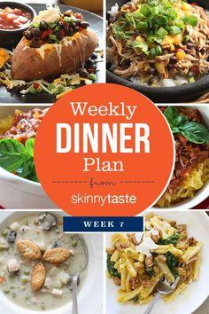 Skinnytaste Dinner Plan (Week 7) | Skinnytaste.com | Bloglovin'