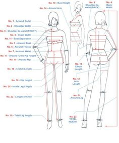 sewing measurements chart - Google Search