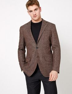 Buy the Regular Italian Linen Blend Jacket from Marks and Spencer's range. Formal Shirts, Casual Shirts, Lingerie For Sale, Small Wardrobe, Suit Shop, Linen Jackets, Beautiful Lingerie, Women Wear, Italy