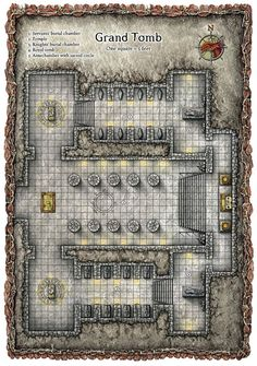 Great map for an encounter. Already imaging a cult in the raise a foul being form its grave