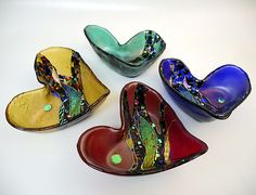 Crazy Heart Bowl by Karen Ehart: Art Glass Bowl available at www.artfulhome.com