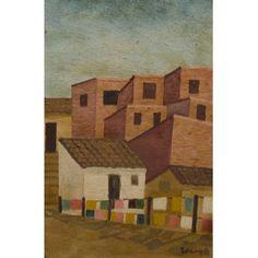 Lorenzato (1900-1995) - Sem título - Óleo sobre madeira - 44,5 x 29 cm - 1978 - Assinado e datado embaixo à direita    Amadeu Luciano Lorenzato. Pintor e escultor. Começa a trabalhar como ajudante de pintor em 1910, exercendo o ofício até 1920, quando se muda com a família para Arsiero (Itália), onde trabalha como pintor de paredes na reconstrução da cidade. Em 1925, matricula-se na Reale Accademia delle Arti, em Vicenza. No ano seguinte, muda-se para Roma, onde permanece dois anos...