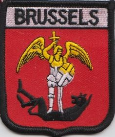 Belgium Brussels Flag Embroidered Patch (a378)