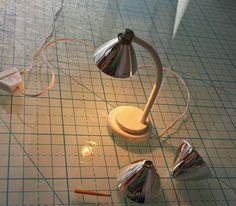 1:12 scale handmade table lamp brushed steel by petitewonders28