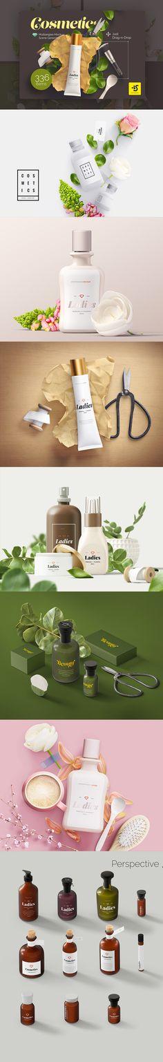 Cosmetics Mockup Scene Generator #mockup #cosmetics #scene #generatior #creativemarket