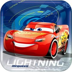 Lightning McQueen fans will be excited to ''Ka-chow& down on their food when it's served up on these Cars 3 Lunch Plates. Featuring a square design, these 16 paper plates are served up as part of our Cars 3 Party Collection. Mylar Balloons, Latex Balloons, Flash Mcqueen, Disney Cars Party, Car Party, Square Plates, Lightning Mcqueen, 3rd Birthday, Disney Cars